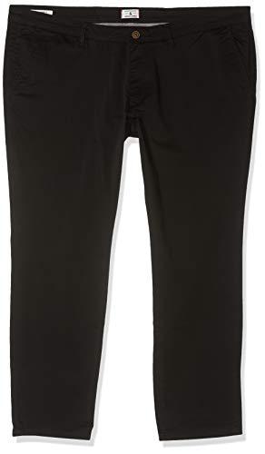 JACK & JONES Herren JJIMARCO JJBOWIE SA Plus Hose, Schwarz (Black Black), W29/L34(Herstellergröße: 42)