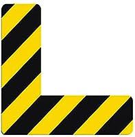 (ヨーテイ) Youtei 位置 指定 表示 地面 ステッカー (10*3cm(L型), 黄黑色)