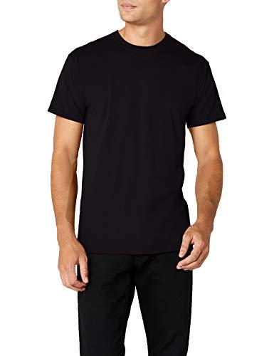 Fruit of the Loom Premium Tee Single, Camiseta manga corta para Hombre, Negro (Black), Medium