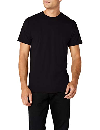Fruit of the Loom Premium Tee Single, Camiseta manga corta para Hombre, Negro (Black), Medium