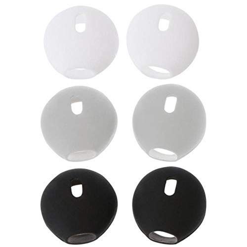 1 par de Silicona Suave para Airpods Funda para Auriculares Cubierta de Silicona Antideslizante Gancho para Oreja para Apple In-Ear para Airpod Earplug, Gris, China
