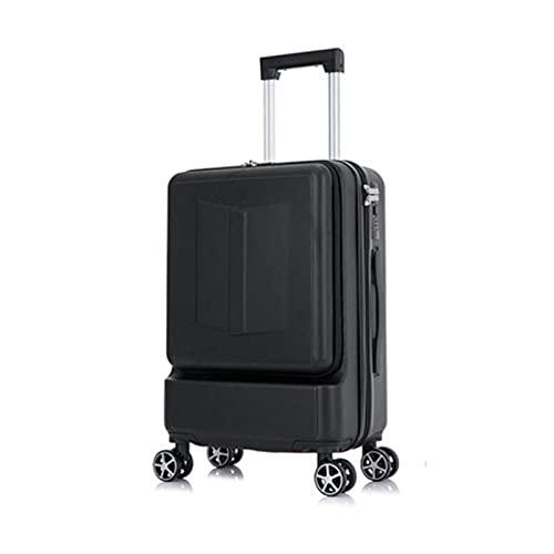 Estilo simple llevar en equipaje con ruedas giratorias con bolsa de ordenador portátil cabina personalizada Rolling maleta 20 24 pulgadas, White, 20' (50,8 cm),