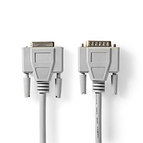 NEDIS Serielles Kabel Serielles Kabel | D-Sub 15-poliger Stecker | D-SUB 15-Pin-Buchse | Vernickelt | 3.00 m | rund | PVC | Elfenbein | Plastikbeutel Elfenbein 3.00 m