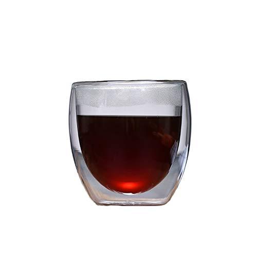 Chiatai Tazas de café de cristal de doble pared, aisladas de doble pared, tazas de café para café y café expreso, tazas de cristal para regalo, 250 ml