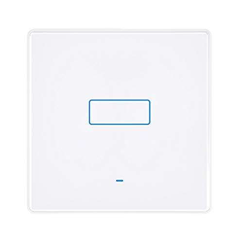 Smart Switch Alexa Smart Lichtschalter, Wi-Fi Smart-Wandschalter mit Fernbedienung und Timer, Alexa Echo-Schalter, kompatibel mit Alexa Echo, Google Home, kein Hub erforderlich, Touch-Taste (1 Gang)