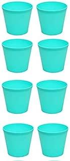 Novicz Sra-pot-nursery4-8pcs-green Plastic Nursery Garden Plant Pot, Green (Pack of 8)
