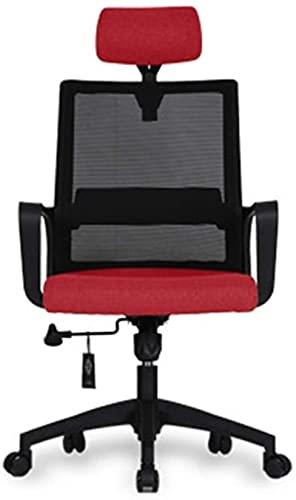 Barstol Dekorativ avföring Bekväm gäststolstolar, Bekväm Breathable Chair Wear Beständig Stol Dator Skrivbord Och Stol Kontor Swivel Stol Fåtölj Fåtölj Kontorsmaterial (Färg: Röd) (Color : Red)