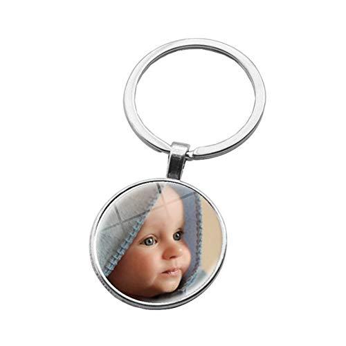 Adorno colgante Colgantes de fotos personalizados Foto de su bebé Niño Mamá Papá Abuelo amado un regalo para el miembro de la familia Regalo Para niños amigos hombres ( Color : 3 , Size : 6 cm )