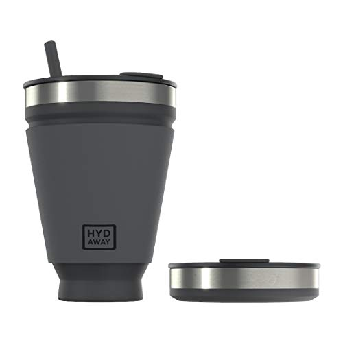 HYDAWAY Collapsible Drink Tumbler | Portable, Insulated, Hot & Cold Drink...