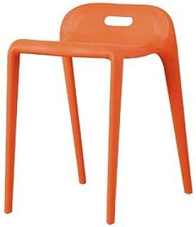 MLX Silla de bar alta, silla de plástico, silla de comedor, silla de oficina, estudio, cocina, desayuno, taburete (color naranja)