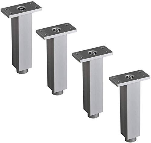 ZJDU 4 patas para muebles y muebles, patas de repuesto de metal para mesa/sofá, patas de soporte de gabinete/gabinete, accesorios de hardware (tamaño: 15 cm)