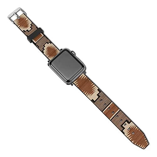 La última correa de reloj de estilo compatible con Apple Watch Band 38 mm 40 mm Correa de repuesto para iWatch Series 5/4/3/2/1, Tribalcultural Storm Pattern