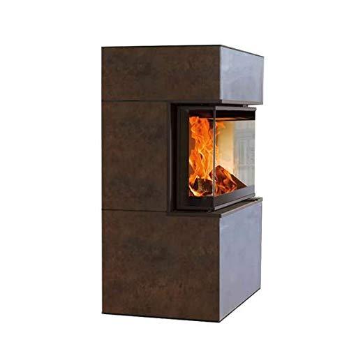 Austroflamm Kaminofen Dexter S3 | 3-seitig verglast | Iron Corten 6 kW