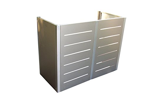 Gero metall Mülltonnen-Sichtschutz, Mülltonnenverkleidung Corso Line für Zwei 120 Liter Mülltonnen