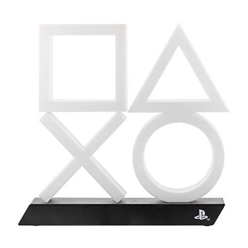 Playstation PS5 Icon Light Unisex Lámpara de mesa blanco-negro, Plastico,