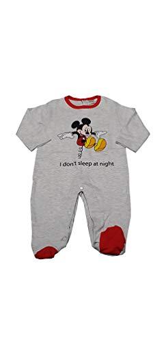 Tutina per Bambino Disney Mickey Mouse in Caldo Cotone Interlock corredino per Neonato (B2WD101467 Grigio, 3-6 Mesi)