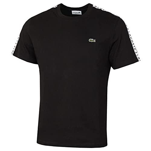 Lacoste TH7079 Camiseta, Noir/Noir, S para Hombre