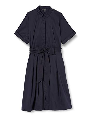 ESPRIT Collection Damen 030EO1E310 Kleid, 400/NAVY, 40
