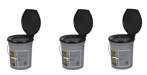 Reliance Products Luggable Loo Portable 5 Gallon Toilet (3 PACK)