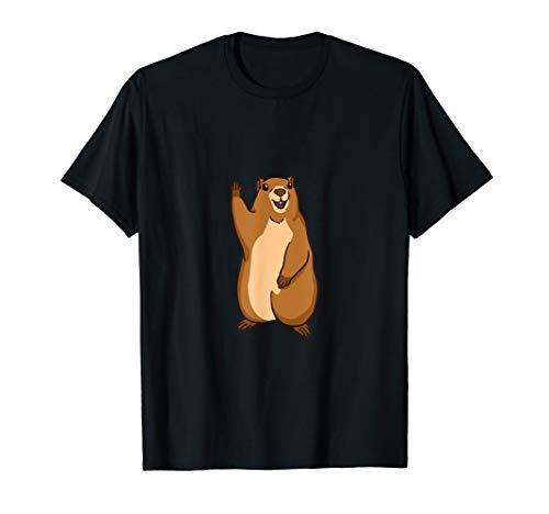 Marmot Murmeltier Geschenk T-Shirt