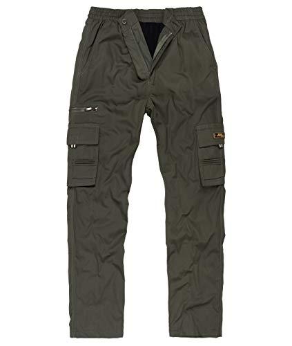 Fashion Herren Thermohose mit Dehnbund - mehrere Farben ID561, Größe:L;Farbe:Dunkelgrün