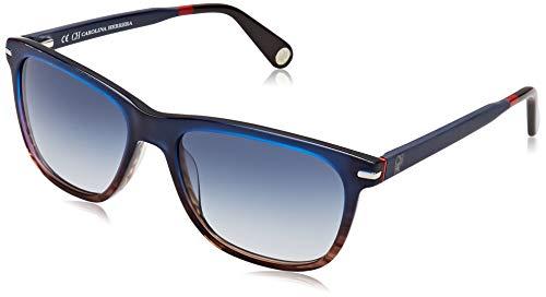 Carolina Herrera SHE658550M61 Gafas de sol, Azul, 55 para Hombre