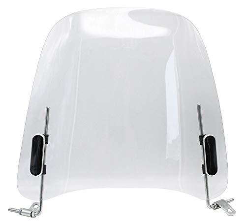 Rolektro Windschutzscheibe für E-Roller Fahrrad Motorrad 33cm durchsichtig Windschutz Spritzschutz Windschild