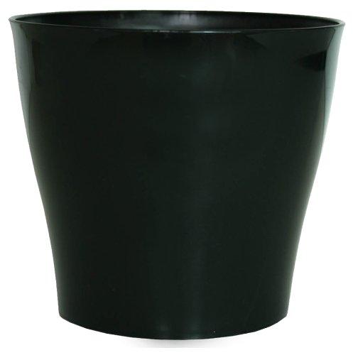 Floralo Riva Cache-Pot Rond Noir Brillant 22 x 21 cm