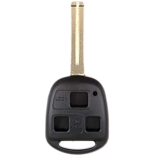 SCITOO 3 Buttons Keyless Entry Remote Car Key Fob Case Replacement for 1997-2005 Lexus GS430 IS300 ES300 LX470 LS400 GS400 GX470 RX350 RX400h ES330 1PC FCC HYO12BBT