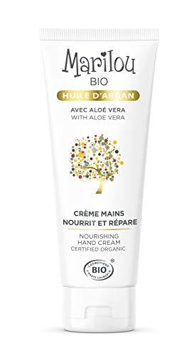 MARILOU BIO Crème pour les Mains à l'huile d'Argan - Tube de 75 ml - Gamme Argan