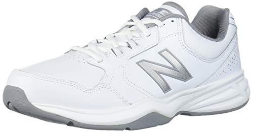 New Balance Men's 411 V1 Walking Shoe, White/Silver Mink, 10 X-Wide