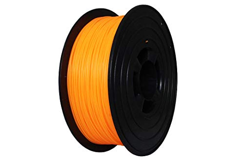 3D Drucker Filament 1kg PLA 1,75mm ⌀ Durchmesser Spule Rolle 1000g Made in DE (Neon Hell Orange)