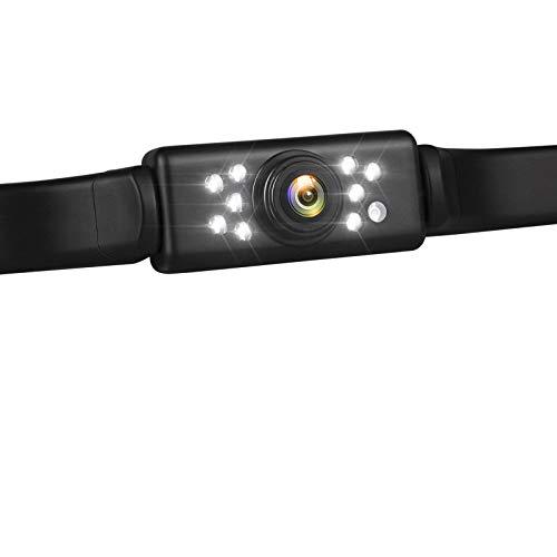 Car Backup Camera HD Night Vision Rear View Camera with 9 LED Lights, Font & Back Camera, Wide View Angle, IP69K Waterproof Reverse Camera for Cars,SUV,Trucks,RV, Pickup