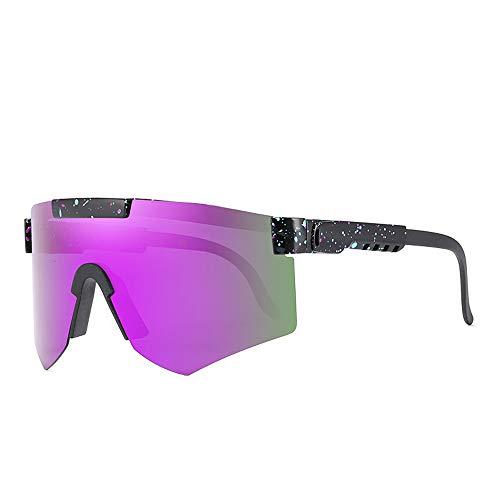 Tletiy Gafas Sol Ciclismo para Hombre, Doble Ancho polarizado con Marco Tr90 con Espejo para Hombres y Mujeres, Gafas de Sol Deportivas polarizadas Quay, Gafas de Sol para Mujer