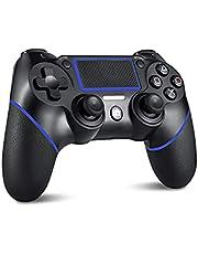mkeety PS4 コントローラー 【2021人気版】ワイヤレス コントローラー 600mAh 無線 Bluetooth接続 遅延なし 二重振動 高耐久ボタン ヘッドフォンジャック付き PS3/PC対応 日本語取扱説明書