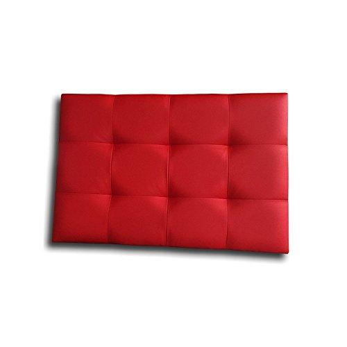 Ventadecolchones - Cabecero de Cama Tapizado Acolchado de Dormitorio en Polipiel con capitoné Modelo Tablet Rojo y Medidas 136 x 70 cm para Camas de 120 ó 135