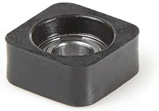 """high quality Amana Tool - SQB100 Euro Square Bearing online sale Guide 1/2 Overall Dia x 3/16 Inner Dia online sale x 0.223"""" Th outlet sale"""