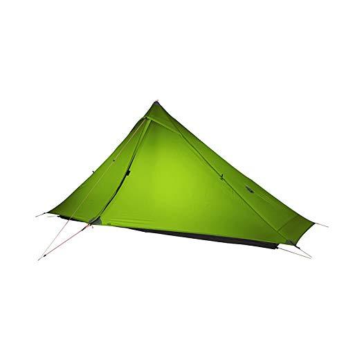 AORR 3F UL GEAR 1 pro Tent Outdoor 1 Person Ultralight Camping Tent 3 Season Professional 20D Silnylon Rodless Tent, 20D Green