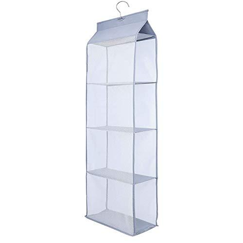 Borsa Organizzatore Armadio, 4 Tasche Traspiranti Storage Bag Organizzatore per Armadio Camera da Letto