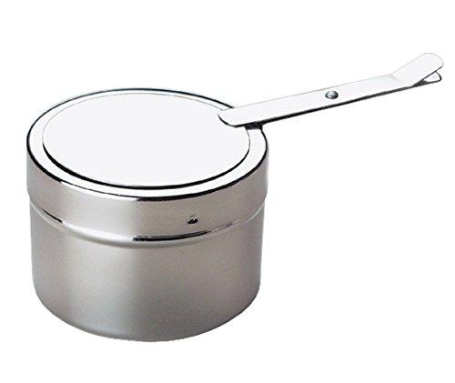 Brennpastenbehälter aus Edelstahl, mit Deckel-Bajonettverschluss, spülmaschinengeeignet / Ø 9 cm, Höhe: 6 cm | SUN