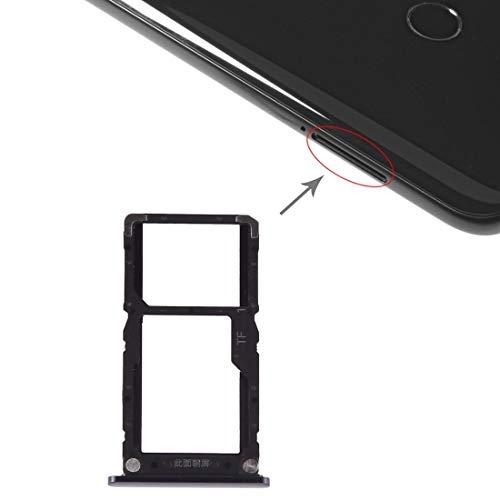 HDZ AYDD - Bandeja para tarjetas SIM + tarjeta micro SD para Xiaomi-Mi 8 Lite (color: negro)