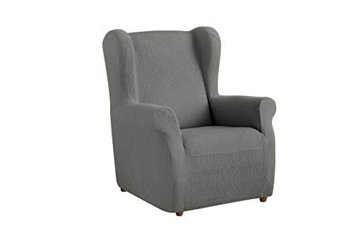Textil-home Stretchhusse für Ohrensessel TEIDE, 1 Sitzer - 70 a 100Cm. Farbe Grey
