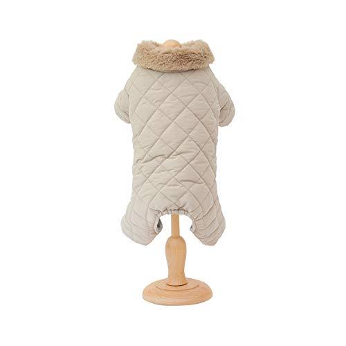 Modna ciepła kamizelka dla zwierząt domowych odzież futrzana obroża ubrania dla psów miękki i wygodny płaszcz dla zwierząt domowych dla dużych średnich psów (XXL, szary)