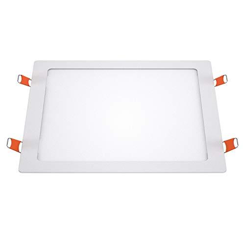 LEDme-downlight cuadrado slim blanco SMD 2835, 24w 4000k luz neutra, 2480lm 120°,...