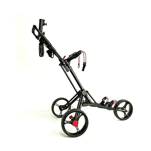 Carro de golf plegable de 3 ruedas Carro de golf manual Push Pull Carro de golf con soporte para paraguas Tarjeta de...