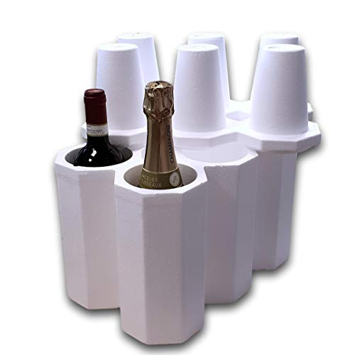 IMBALLAGGI 2000 Kit Portabottiglie Vino in Polistirolo con Scatola di Cartone (1)