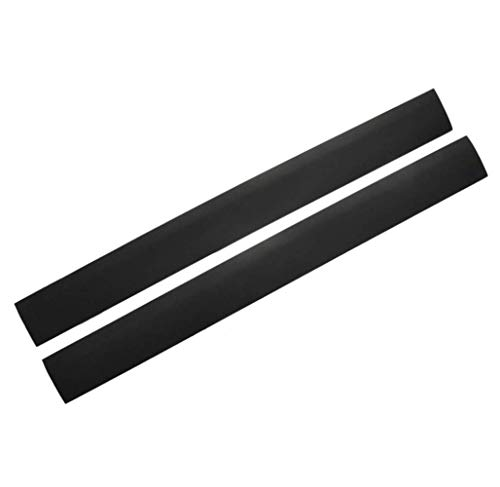 2PCS Silicone Kitchen Stove Gap Covers Long Gap Sealing Filler Strip Between to Stovetops Counter Oven(21 Inches, Black)
