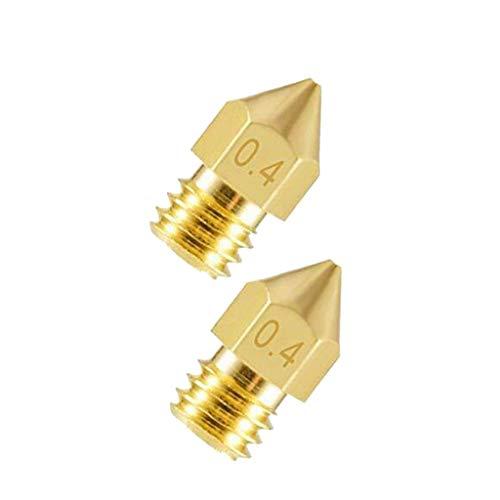 DFVVR Home & Garden, 3D printer accessories Mk8 brass nozzle tip caliber 0.4mm Nozzle, Tools & Home Improvement (C)
