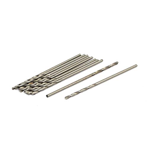 New Lon0167 1.2mm Dia Featured 41.5mm Length HSS reliable efficacy Round drill hole Twist Drill Bit Silver Tone 10pcs(id:00d 94 a3 655)