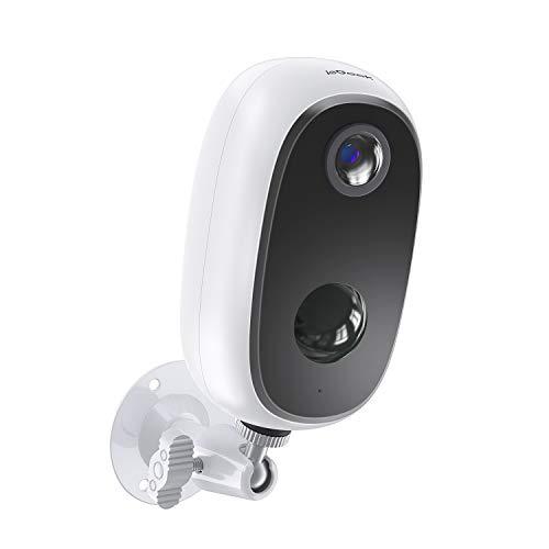 ieGeek Camaras de Vigilancia WiFi Exterior con Batería Recargable de 10000 mAh, Cámara IP de Seguridad Wi-Fi 1080P con Impermeable, Detección de Movimiento PIR, Visión Nocturna, Audio de 2 Vias